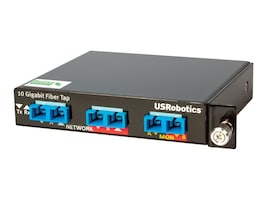 US Robotics 10 1 Gigabit SR SX Multi-Mode Fiber Network Tap 1U Plug-in Module Tap Splitter 1-10GbE LC multi-mode, USR4515LC, 18619311, Video Extenders & Splitters