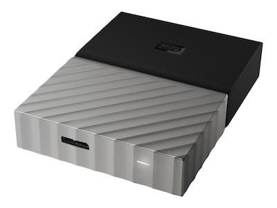 WD 2TB My Passport Ultra USB 3.0 Portable Hard Drive - Black Gray (Online Only), WDBFKT0020BGY-WESN, 35666902, Hard Drives - External