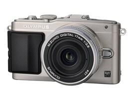 Olympus E-PL5 with Silver 14-42mm Lens - Silver, V205041SU000, 16212358, Cameras - Digital