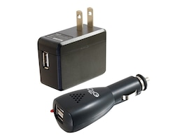 C2G AC and DC to USB Travel Charger Bundle, 22330, 12875031, Power Converters