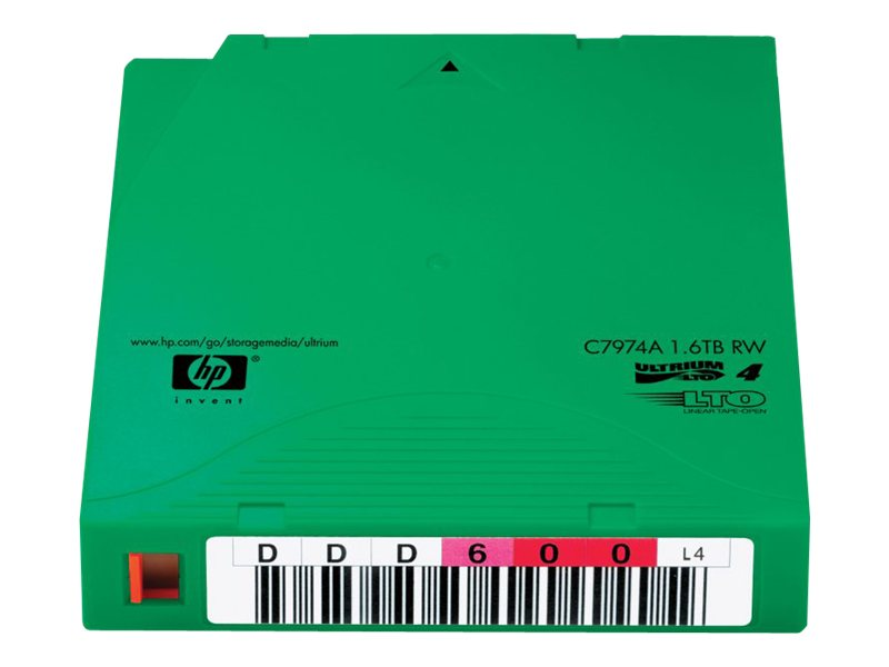 HPE 800GB 1.6TB LTO-4 Ultrium Tape Cartridge, Non-Custom Labeled, 20-pack, C7974AN, 7904563, Tape Drive Cartridges & Accessories