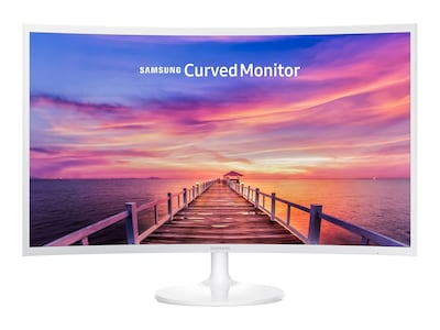 Samsung 32 CF391 Full HD LED Curved Monitor, White, C32F391FWN, 35532496, Monitors