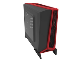 Corsair Chassis, Carbide Alpha Mod Tower Gaming, Black Red, CC-9011085-WW, 30968101, Cases - Systems/Servers