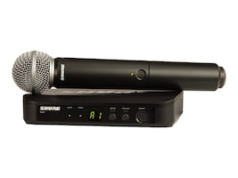 Shure Shure BLX24 SM58 Wireless Vocal System with SM58 Handheld Microphone, BLX24/SM58-H10, 31788443, Microphones & Accessories