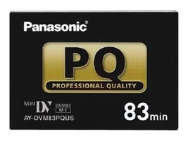 Panasonic Professional Mini DV Tape, 83 Minutes, AYDVM83PQUS, 15732327, Video Tape Media