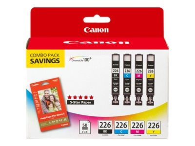 Canon CLI-226 4 Color Pack, 4546B007, 11647281, Ink Cartridges & Ink Refill Kits - OEM