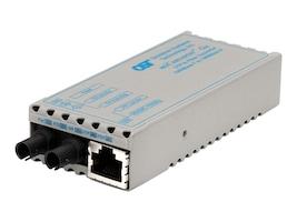 Omnitron MiConv 1000BT RJ45 to 1000B-LX ST SM 1310NM 12KM Universal AC Power, 1201-1-2, 10359498, Network Transceivers