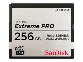 SanDisk 256GB Extreme PRO CF 525 450MB S VPG1, SDCFSP-256G-A46D, 34540486, Memory - Flash