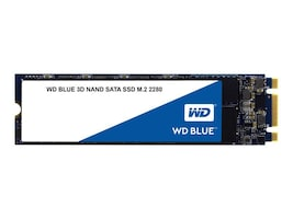WD 500GB WD Blue SATA 6Gb s 3D NAND M.2 2280 Internal Solid State Drive, WDS500G2B0B, 34562239, Solid State Drives - Internal