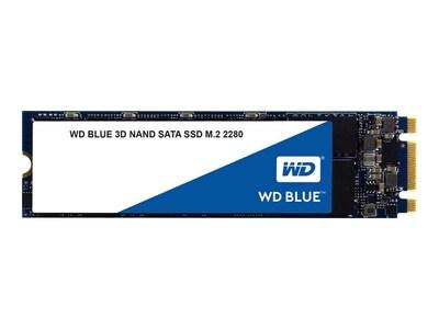 Western Digital 1TB WD Blue SATA 6Gb s 3D NAND M.2 2280 Internal Solid State Drive, WDS100T2B0B, 34492787, Solid State Drives - Internal