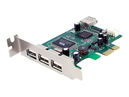 StarTech.com 4 Port PCI Express Low Profile High Speed USB 2.0 Adapter Card, PEXUSB4DP, 10434224, Controller Cards & I/O Boards