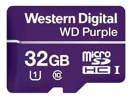WD 32GB Purple Surveillance microSDHC Card, Class 10, WDD032G1P0A, 36761434, Memory - Flash