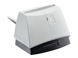 Cherry USB Smart Card Reader, Pale Gray with Black Case, ST-1144UB, 32492476, PC Card/Flash Memory Readers
