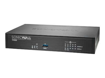 SonicWALL TZ300 Firewall with TotalSecure (1 Year), 01-SSC-0581, 19697338, Network Firewall/VPN - Hardware