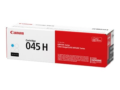 Canon Cyan 045 High Capacity Full Yield Toner Cartridge, 1245C001, 33942782, Toner and Imaging Components - OEM
