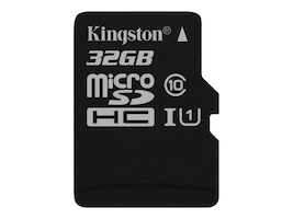 Kingston 32GB Canvas Select MicroSDHC Flash Memory Card, SDCS/32GBSP, 35115174, Memory - Flash
