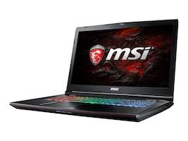 MSI GE72 Apache Pro Core i7-7700 2.8GHz 16GB 1TB+256GB DVD ac BT WC 6C GTX 1050TI 17.3 FHD W10, GE72030, 33580152, Notebooks