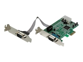 StarTech.com 2 Port Low Profile Native RS232 PCI Express Serial Card with 16550 UART, PEX2S553LP, 11955890, Network Adapters & NICs