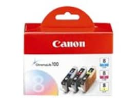Canon CLI-8 Ink Tanks (3-pack), 0621B016, 9387221, Ink Cartridges & Ink Refill Kits - OEM