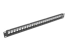 Tripp Lite 24-Port 1U Rack-Mount Shielded Blank Keystone Multimedia Patch Panel, RJ-45, USB, HDMI, Cat5e 6, N062-024-KJ-SH, 32459385, Patch Panels