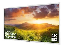 65 Signature Series 4K Ultra HD LED-LCD Outdoor TV, White, SB-S-65-4K-WH, 35074616, Televisions - Consumer