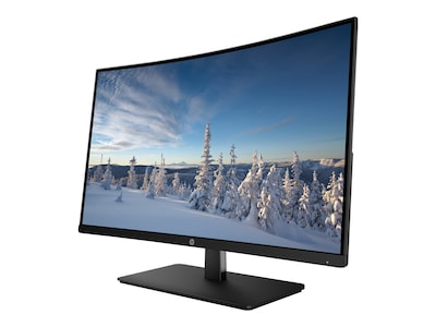 HP 27 27b Full HD LED-LCD Curved Display, Black, 1AT04AA#ABA, 34006056, Monitors