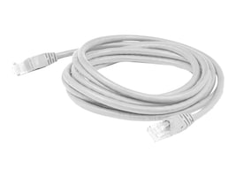 AddOn CAT6 UTP Molded Snagless Copper Patch Cable, White, 3ft, ADD-3FCAT6-WHITE, 31465644, Cables