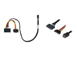 HighPoint SFF-8643 To U.2 SFF-8639 Cable For SSD7120 With 15Pin SATA Power, 8643-8639-50, 35714505, Cables
