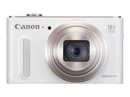 Canon Powershot SX610 HS Camera, 20.2MP, 18x Zoom, White, 0112C001, 18524283, Cameras - Digital