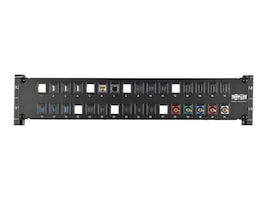 Tripp Lite 32-Port 2U RM Unshielded Blank Keystone Multimedia Patch Panel w RJ45, USB, HDMI, Cat5e 6, N062-032-KJ, 33181670, Patch Panels