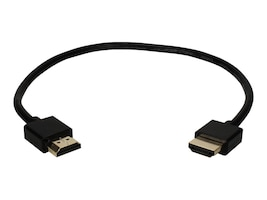 QVS High Speed HDMI M M Ultra HD 4K with Ethernet Thin Flexible Cable, Black, 1.5ft, HDT-1.5F, 31505829, Cables