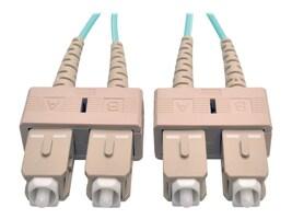 Tripp Lite Fiber 10Gb Patch Cable, SC SC, 50 125, Duplex, Multimode, Aqua, 2m, N806-02M, 7373109, Cables