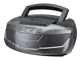GPX CD Cassette AM FM Boombox, BCA206S, 34584868, Portable Stereos
