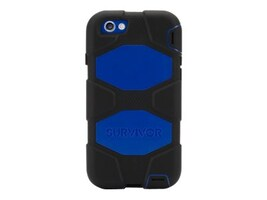 Griffin Survivor All-Terrain for iPhone 6 4.7, Black Blue, GB38905, 17700732, Carrying Cases - Phones/PDAs