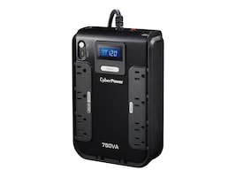 CyberPower 750VA 420W Intelligent LCD UPS, (8) Outlets, PowerPanel Software, CP750LCD, 14249624, Battery Backup/UPS