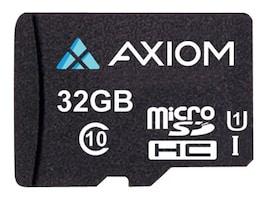 Axiom 32GB MicroSDHC UHS-I U1 Flash Memory Card, Class 10, MSDHC10U132-AX, 35076152, Memory - Flash
