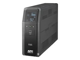 APC Back UPS Pro BR 1000VA, SineWave, (10) Outlets (2) USB Charging Ports, AVR, LCD Interface, BR1000MS, 34946603, Battery Backup/UPS