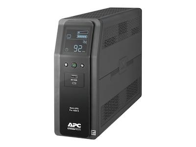 APC Back UPS Pro BR 1000VA, SineWave, (10) Outlets (2) USB Charging Ports, AVR, Instant Rebate, Save $43, BR1000MS, 34946603, Battery Backup/UPS