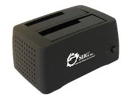 Siig Cool Dual SATA to USB 2.0 Docking Station, SC-SA0412-S1, 9388566, Hard Drive Enclosures - Multiple