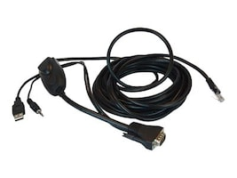 Raritan Integrated KVM for VGA USB Audio Cable, 6ft, MDUTP20-VGA, 34217304, Cables