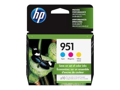 HP 951 (CR314FN) 3-pack Cyan Magenta Yellow Original Ink Cartridges, CR314FN#140, 12974339, Ink Cartridges & Ink Refill Kits - OEM