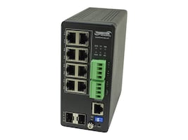 Transition Managed Hardened Switch 8xGbE PoE+, SISPM1040-582-LRT, 36218538, Network Switches