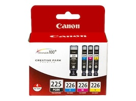 Canon PGI-225 CLI-226 4 Color Pack, 4530B008, 11647150, Ink Cartridges & Ink Refill Kits - OEM