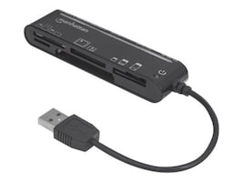 Manhattan Hi-Speed USB 80-in-1 Slim Card Reader, 101998, 32102714, PC Card/Flash Memory Readers