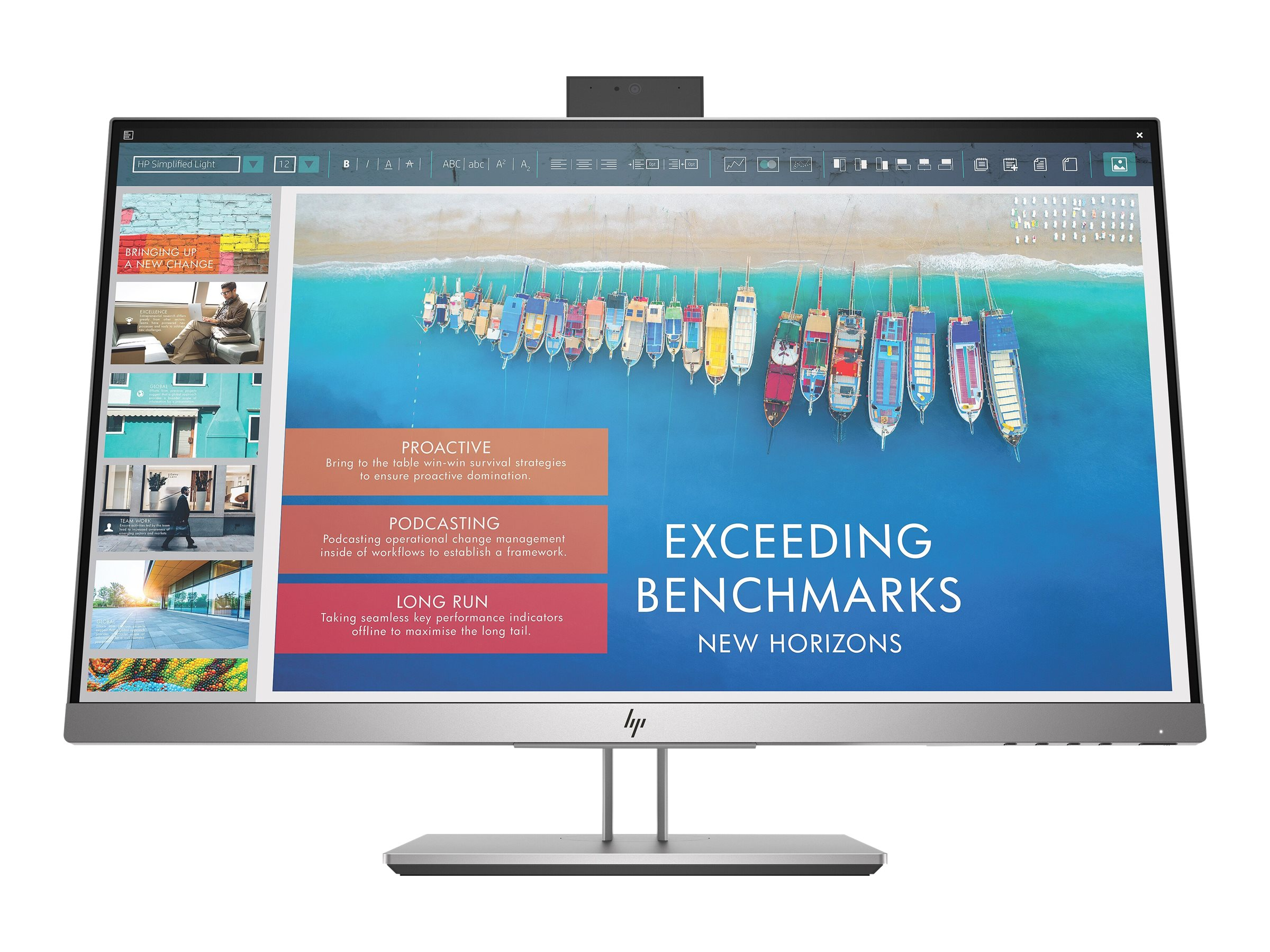 """HP 23.8"""" E243D Full HD LED-LCD Docking Monitor with Webcam (Head ..."""