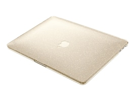 Speck SmartShell Case for MacBook Pro 13 With and Without Touch Bar, Clear Gold Glitter, 90207-5636, 33843101, Carrying Cases - Notebook