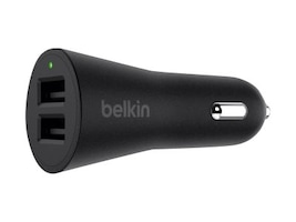 Belkin Boost Up 2-Port Car Charger & 4ft USB-A to Lightning Cable, F8J221BT04-BLK, 34595188, Automobile/Airline Power Adapters