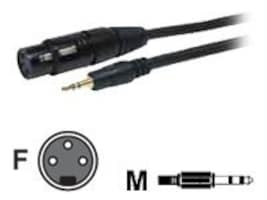 Comprehensive Stereo 3.5mm Mini to 3-Pin XLR M F Cable, 6ft, XLRJ-MPS-6ST, 17982098, Cables