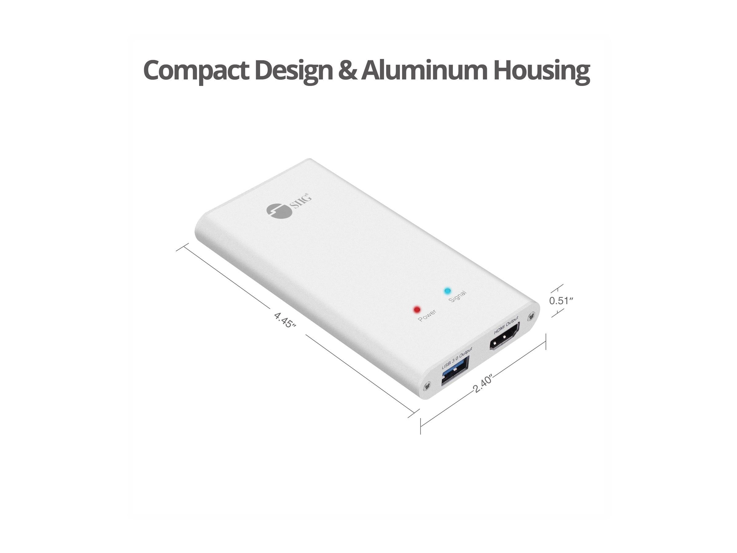 Siig USB 3 0 HDMI Capture Adapter Plus