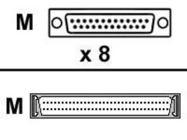 Digi 8-port DB25 M DTE Fan-Out Cable, 76000523, 215992, Cables